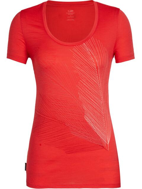 Icebreaker Tech Lite Plume SS Scoop Shirt Women ember